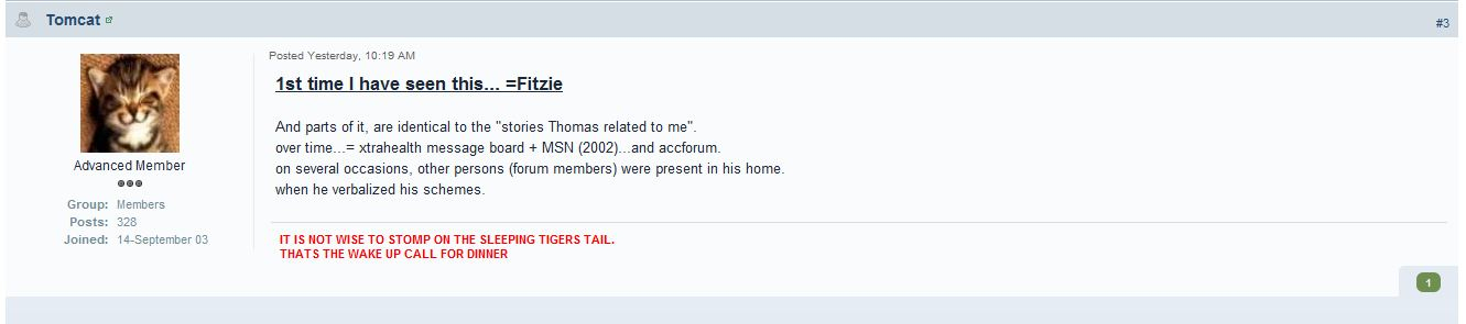 13/12/2011. Kenneth Miller confirms he knew nothing about the Fitzie file