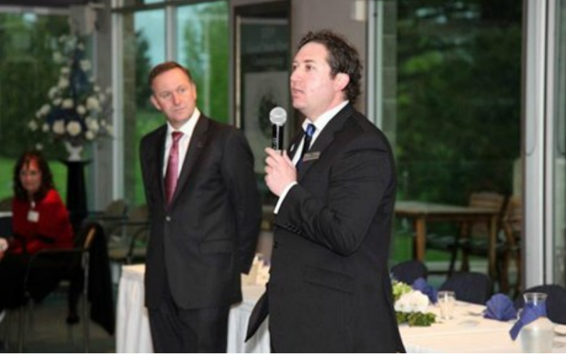"National Party karaoke: John Key looks on as his toad belts out ""puff the magic dragon"""