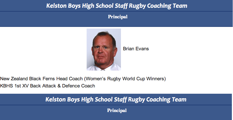 """The principal offender – the two killers mentor and Kelston Boys Highs attack coach – Principal Brian """"kill them for Kelston"""" Evans – did he instill the kill or be killed mentality?"""