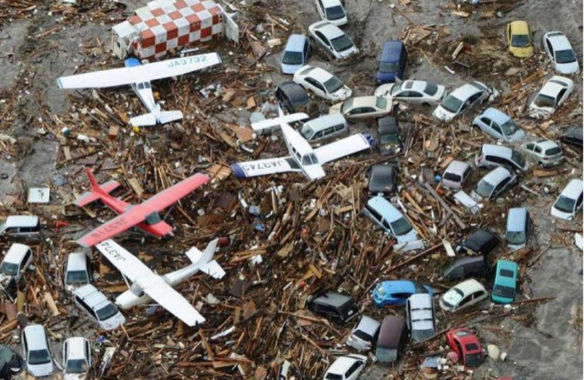 """""""Wellington Airport after the quake that claimed 2.5 percent of New Zealands population.  Surprisingly, Prime Minister Keys plane is not present- apparently he was in Washington on a gravy train with Peter Dunne"""""""