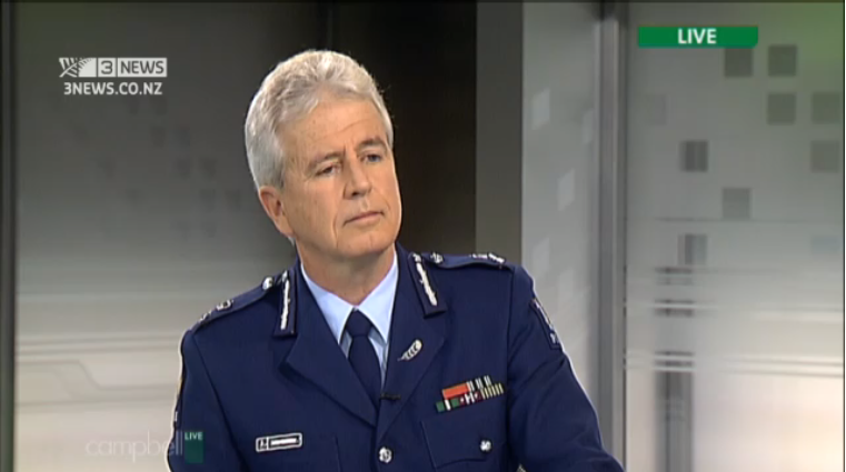Arrogance personified: super-sized egoist NZ Police Commissioner Peter Marshall a man devoid of scruples ordered bloggers be threatened with arrest and imprisonment and then when realising the police had been thumped, and only then, ordered police spin doctors to gear change and shift the publics focus.