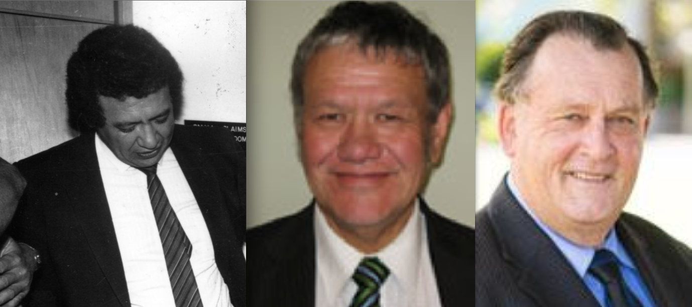 Just three of the seriously corrupt Gisborne cops who later controlled local councils. Left to right: Hemi Hikawai, Rana Waitai and Alan Davidson
