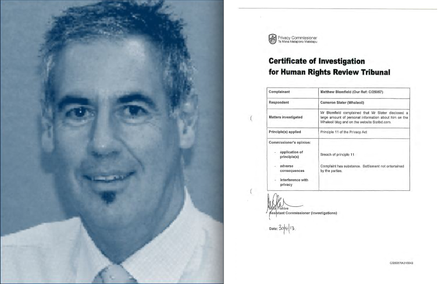 Machiavellian muppet Mike Flahive and his so called Privacy Commission Certificate of investigation