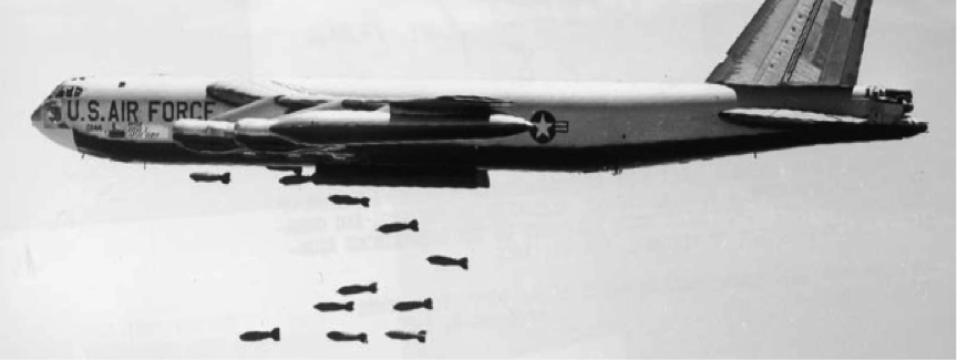 Worlds apart – well miles – around 12.5 miles to be exact – B52 set to keep on murdering till 2040 at least.