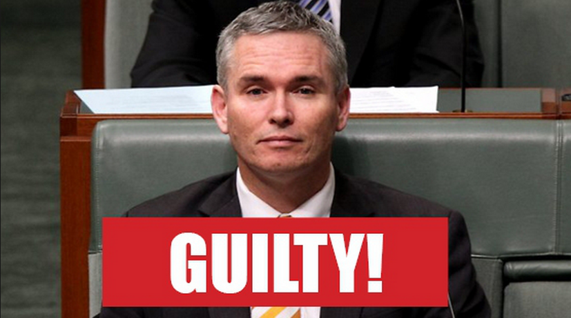 Boo-Hoo - Corrupt Federal MP Craig Thomson on the verge of a bout of his famous Crocodile tear moments.