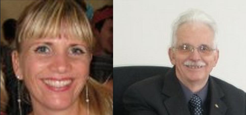 Ngaire Vanderhoof (L) , the REAA's spin doctor and daughter of Dale Vanderhoof (R).