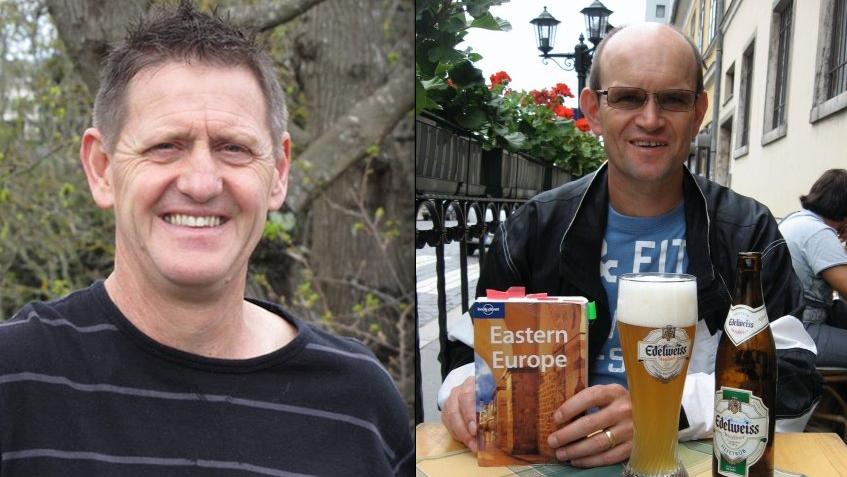 Facebook buddies Michael van Delden (L) and his REAA mate Gerald Callacher (R)