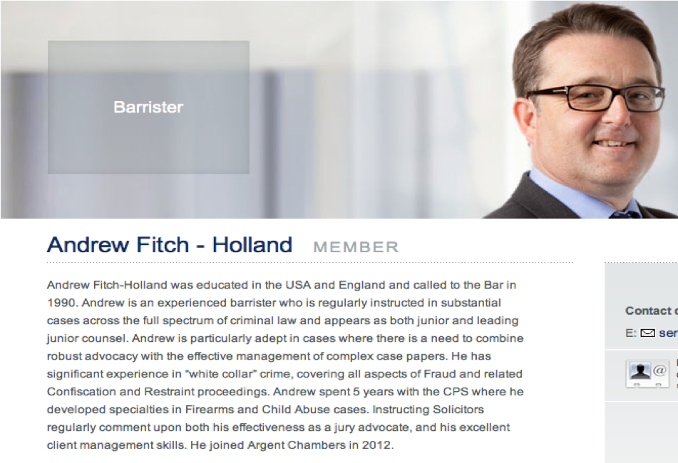 """Fitch-Holland - Expert on """"white collar crime"""" – well he just got his collar felt big time – and spent a few days in custody whilst Cairns was interviewed.  This means the Plods wanted Cairns """"excuses"""" so they have his evidence in the bag before they bowl Cairns."""