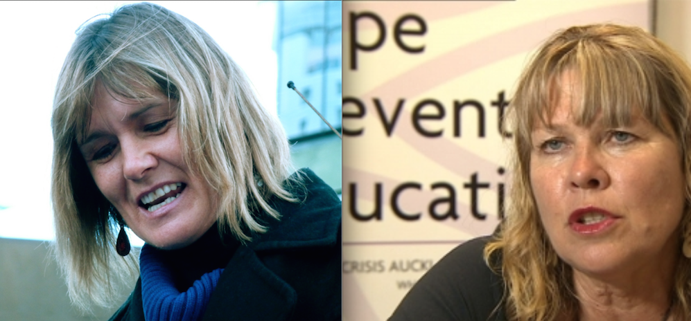 Louise Nicholas (R) Kim McGregor (L) Government funding for rape crisis and provention groups is always an issue but does that give these groups the right hold themselves out as experts when they're clearly not, just to grab the publicity?