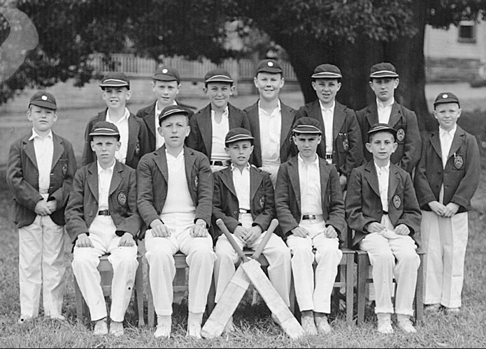 "Caption: ""Students today reflect on those that have gone before them"" There only one problem with this photograph and the caption. These boys all posing for a photograph that would later be used to reminisce the past, will never have the opportunity to think about the boys that went before them, at least not those whose live have been ruined by the actions of the school and its teaching staff."