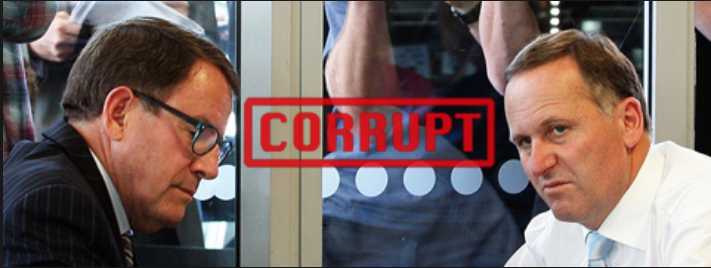 Two power crazed sociopaths, the now convicted John Banks and the should be convicted John Key.