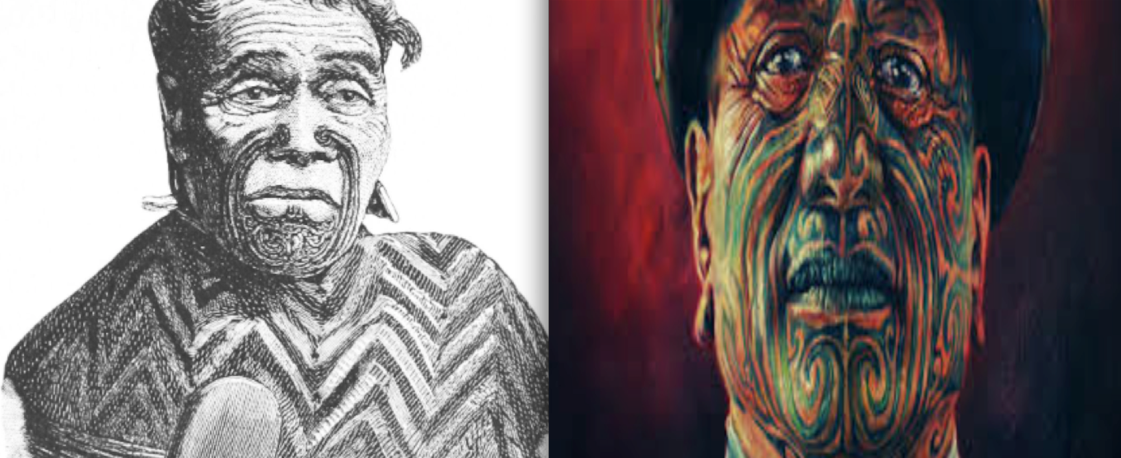 """Image of the original Maori King, and a modern Maori that would replace him and likely do a much better job – not sucking up to the white mans justice – getting scraps like the shit handed out to one Maori boy – rather than to all young Maori men """"in trouble""""."""