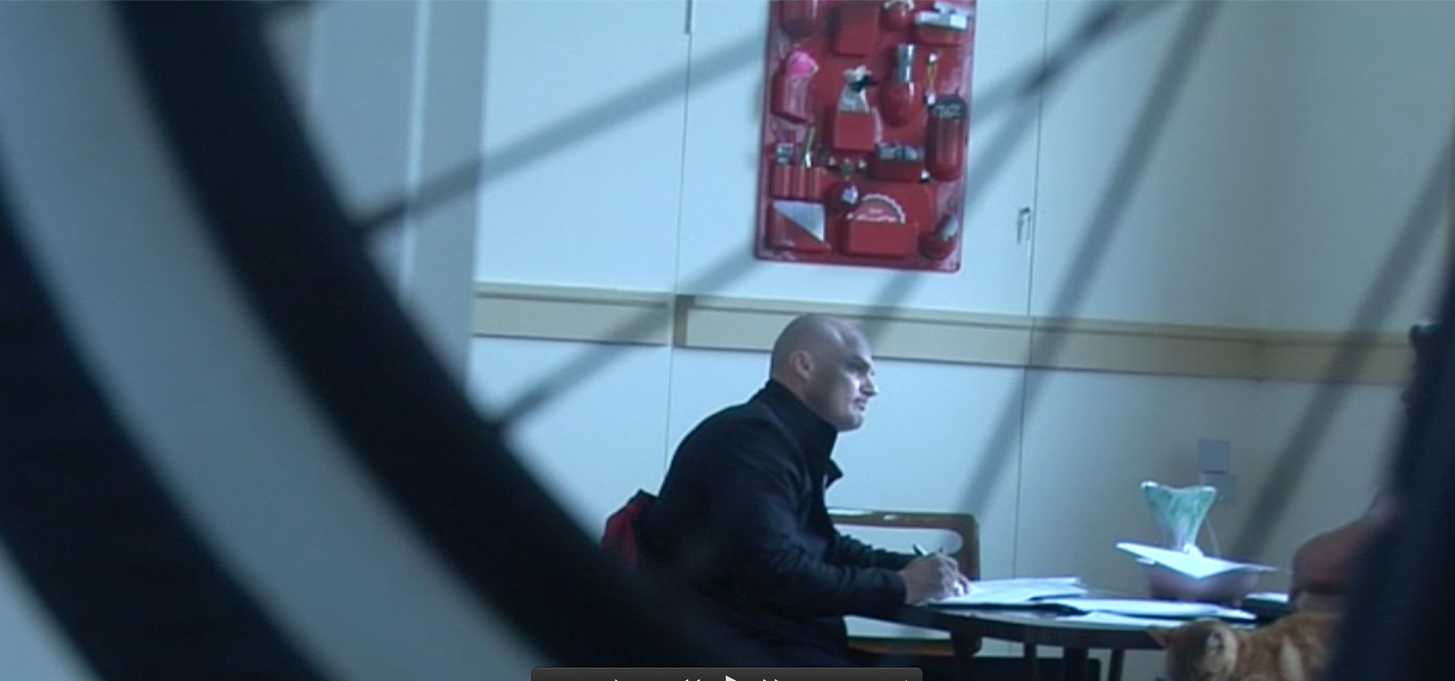 Video still: Expat Africaaner detective constable Uvaan Englebrecht of the New Zealand police interviews Cameron Slaters witness following more false allegations to police designed as an attempt to discredit.