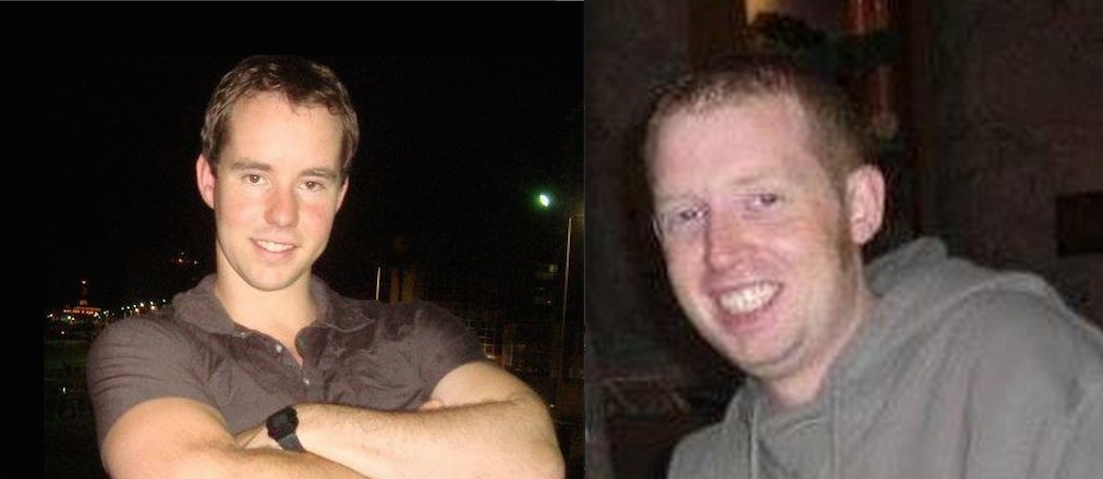Kerry Mason (L) and Ronan Kelly (R)