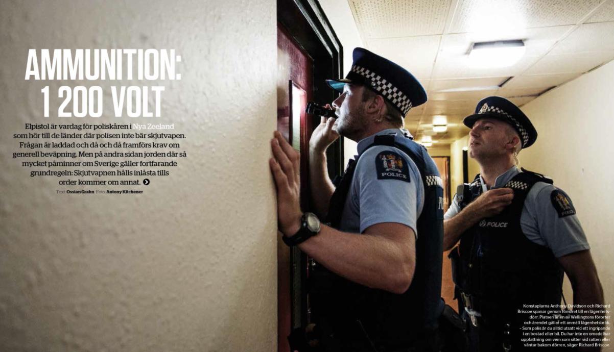 Swedish police association magazine article, AMMUNITION: 1200 VOLT