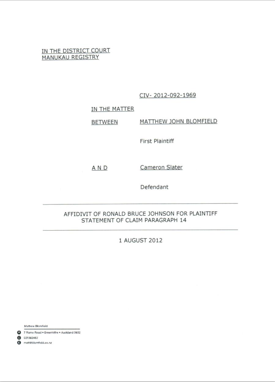 Click to view Bruce Johnsons entire affidavit