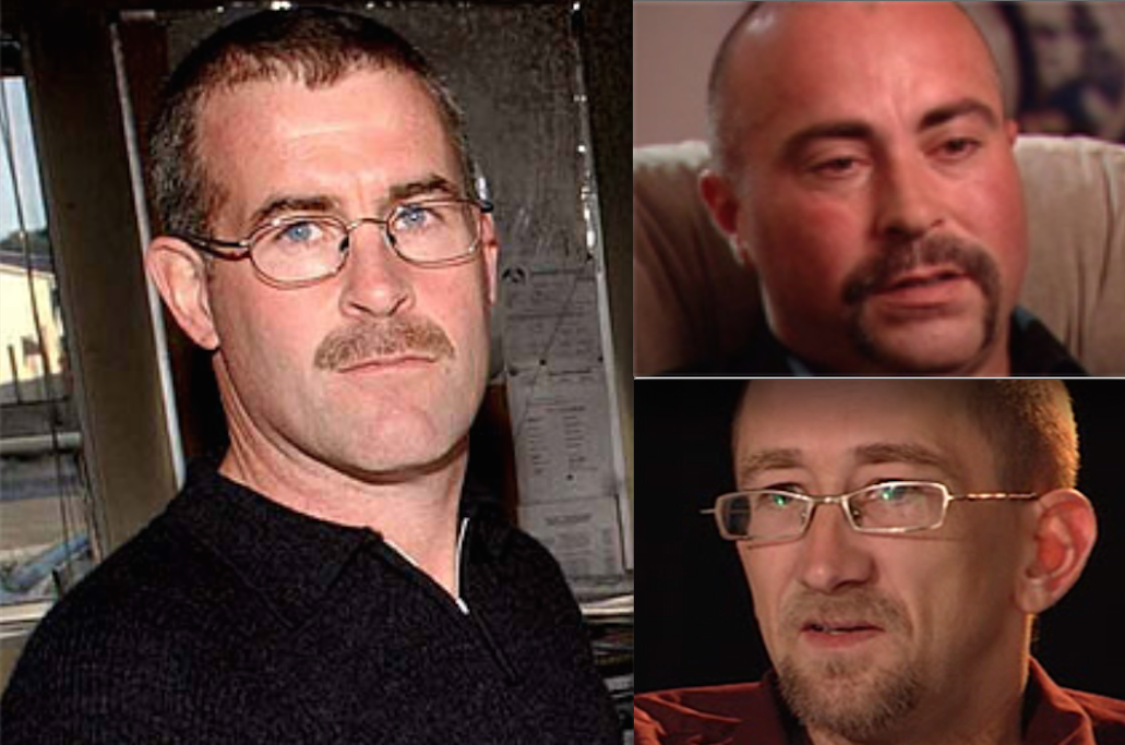 Corrupt cop detective sergeant Peter Govers (R) framed his victims Jaden  (top Left) and Phillip (bottom Left)