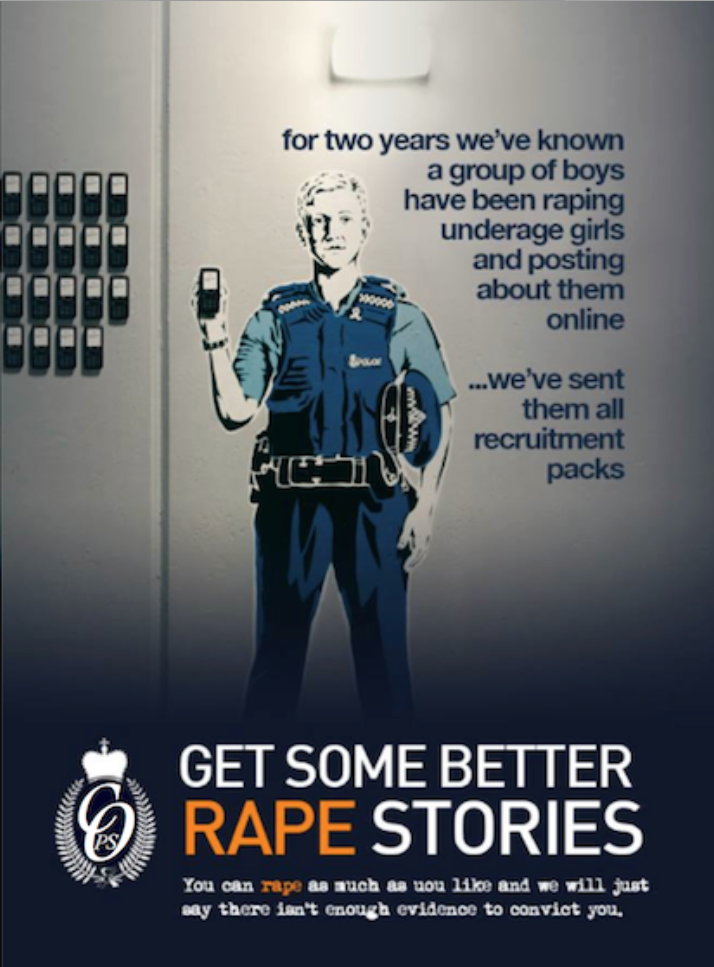 Martin Bradbury has had his own run ins with the Kiwi cops, police threatening to arrest and charge him if he did not remove the above image from his blog.