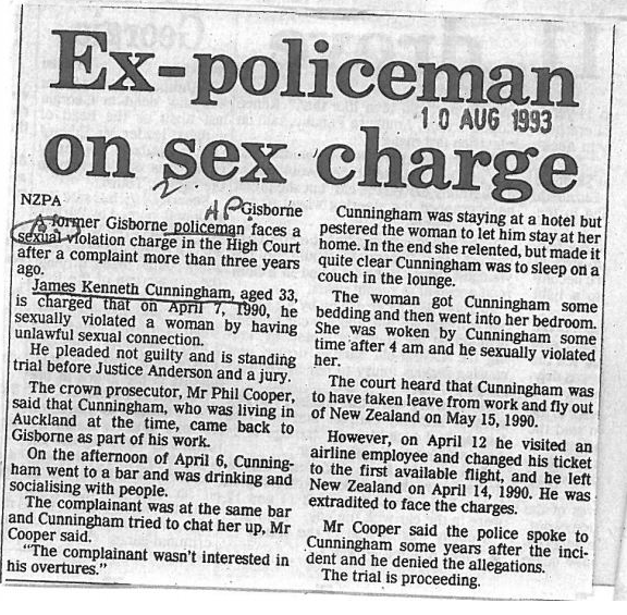 A copy of one news item the police failed to destroy