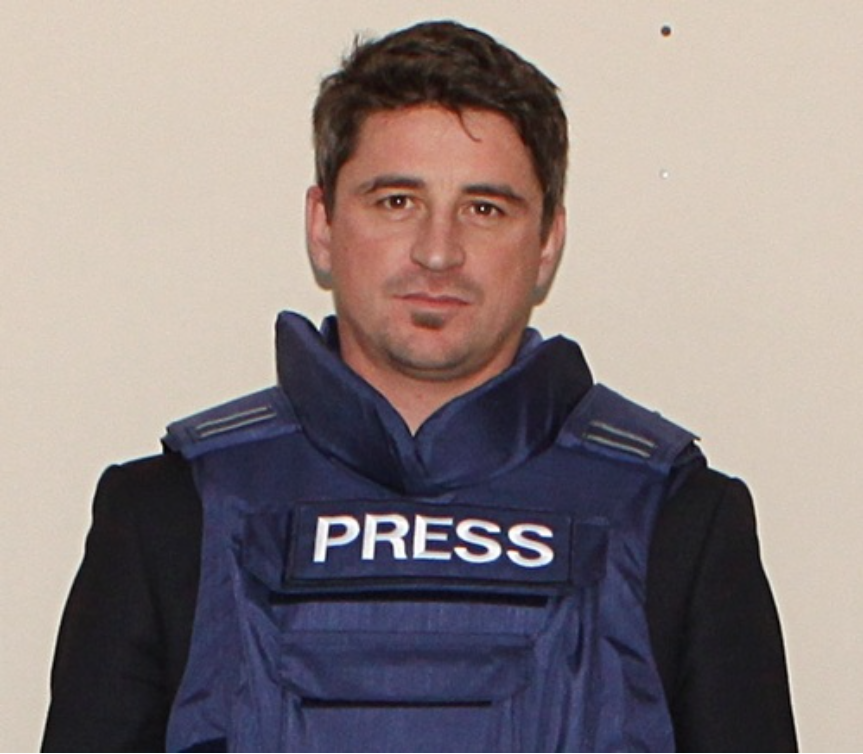 Kurt Bayer, sporting the stab-proof vest he wears to school rugby games