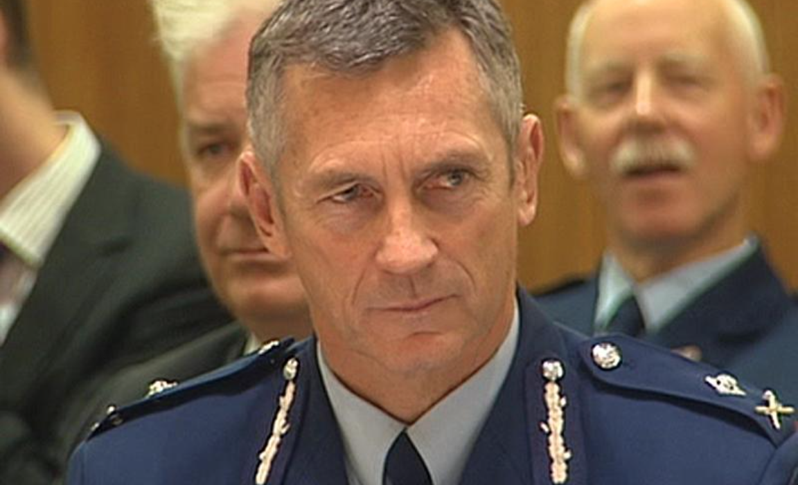 New Zealand police Commissioner Mike Bush, obviously more than happy to stand by bent cops, as was proven at the funeral of corrupt detective Bruce Hutton