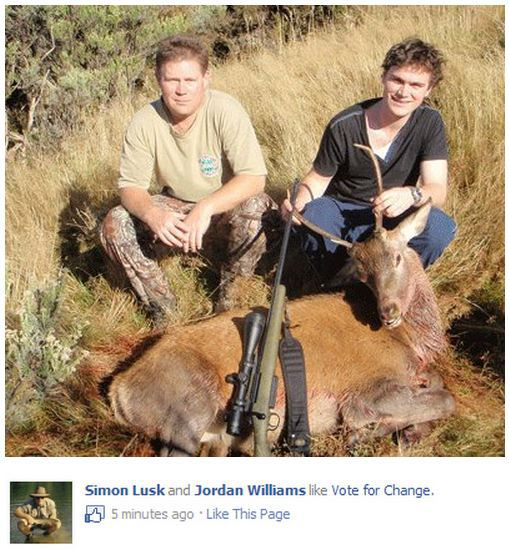 """Left to right; Simon Lusk and Jorden Williams, two glowing example of New Zealand """"intellectuals"""""""