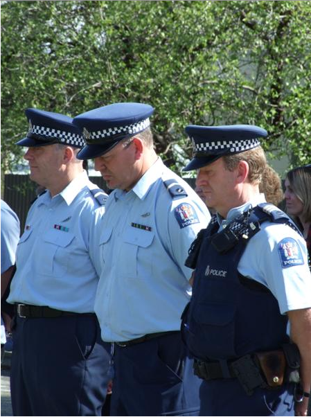 Centre; Senior Constable John Clarke, yet another sex offender with name suppression – the bent cop that Mr Wardill named.