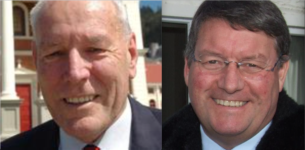 Two perverted peas in a pod, From Left, New Zealand Police commissioners John Jamieson and Howard Broad.