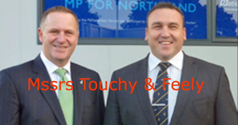 John Key and Mike Sabin