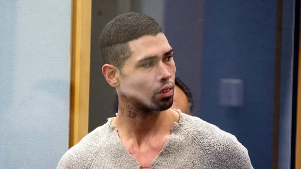 The man convicted of the rape and murder of Blessie Gotingco, in the dock during his trial