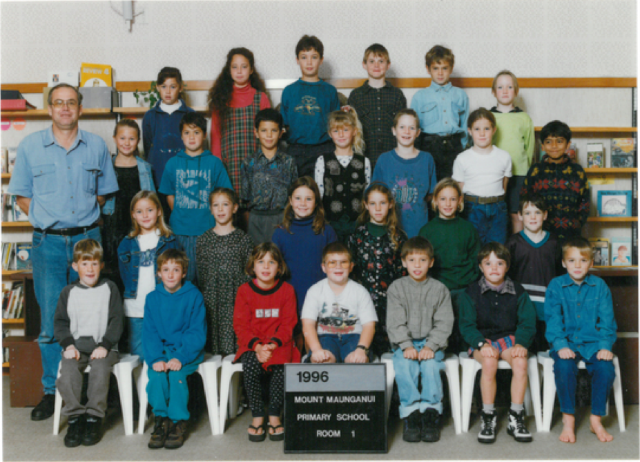 Third row fron front, third child from left, Benjiman Stephen Rachinger, the boy dreamed of being James Bond