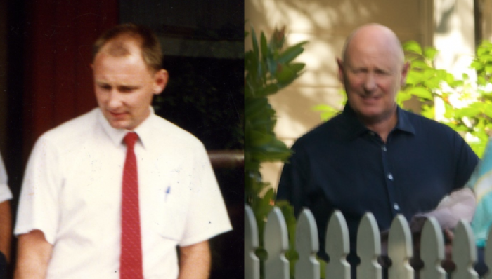 Detective James Kenneth Cunningham right 1988 -left the reinvented psychologist 2013