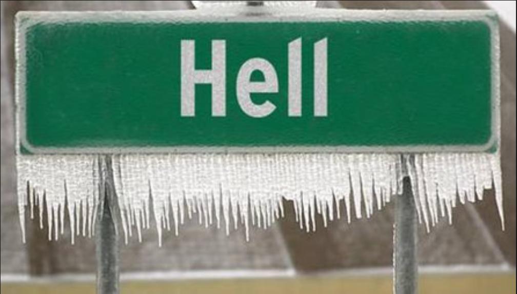 Mr Matthew John Blomfield will be waiting until Hell freezes over.