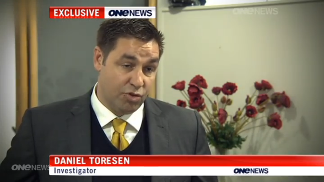 Clear evidence of repetitive head trauma is evident in the speech, facial expressions, and lack of cognitive capacity of Daniel Toresen.  Is he a victim of his father's uncontrollable violence? Beaten dumb by dumber.